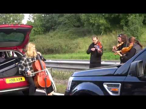 String Quartet Plays Pachabel's Canon During Traffic Jam