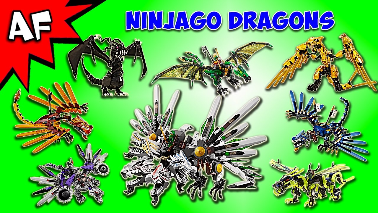 every lego ninjago dragon complete collection youtube. Black Bedroom Furniture Sets. Home Design Ideas