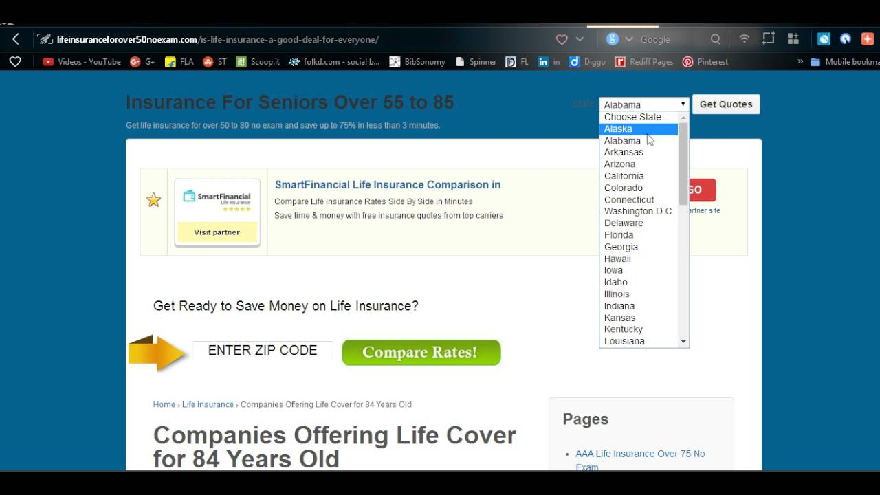 Life Insurance Quotes Over 50 Companies Offering Life Cover For 84 Years Old  Youtube
