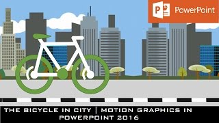 Die Fahrrad-Animation in PowerPoint-2016 | Motion Graphics Tutorial