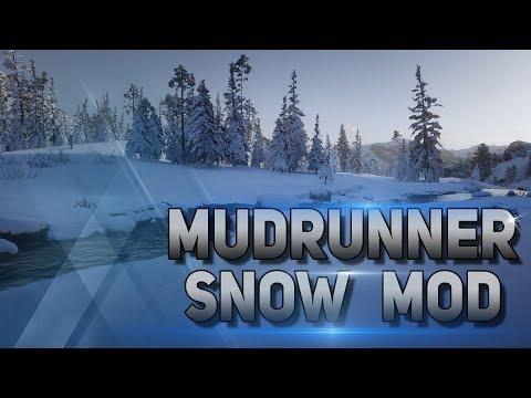 MudRunner Установка Snow Mod (Установка зимних карт)