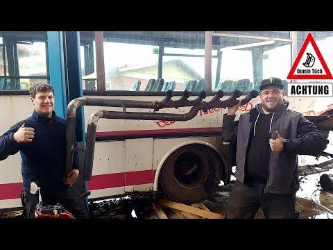 Sportauspuff am Bus | Dumm Tüch