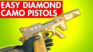 EASY DIAMOND CAMO PISTOLS - BLACK OPS 4 TIPS &amp TRICKS