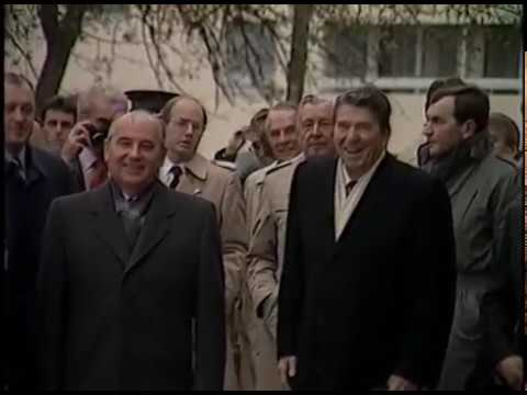 President Reagan Meeting with Mikhail Gorbachev at the Geneva Summit on November 20, 1985