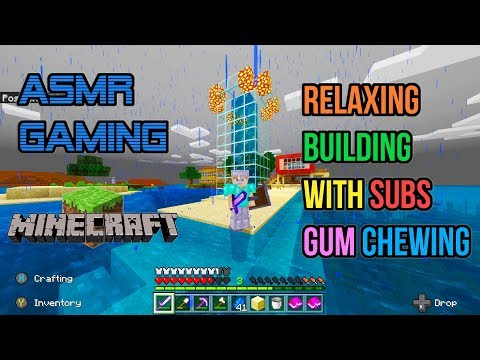 ASMR Gaming | Minecraft Relaxing Building With Subscribers Gum Chewing 🎮🎧Controller Sounds😴💤