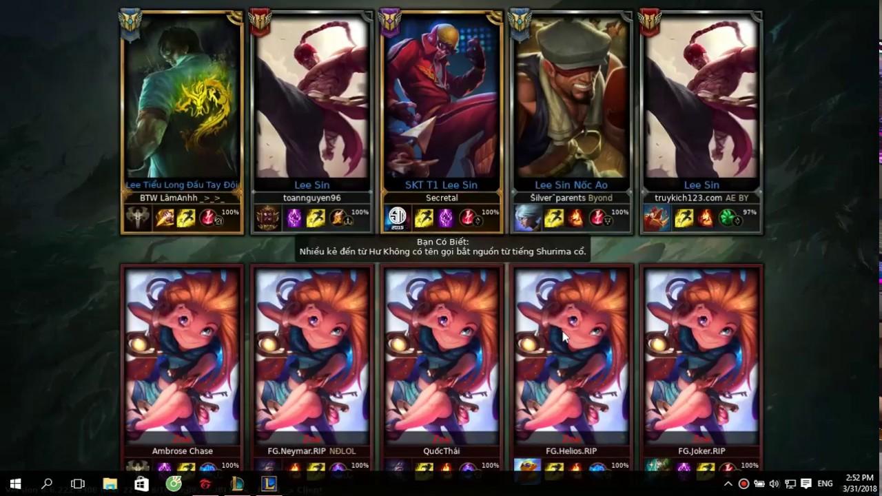 Một cho tất cả : 5 Lee Sin VS 5 Zoe _Đăng Cương_