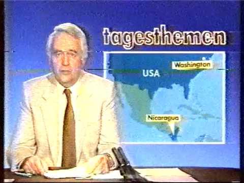 ARD Programmvorschau Tagesthemen 01.05.1985 Ronald Reagan in Bitburg