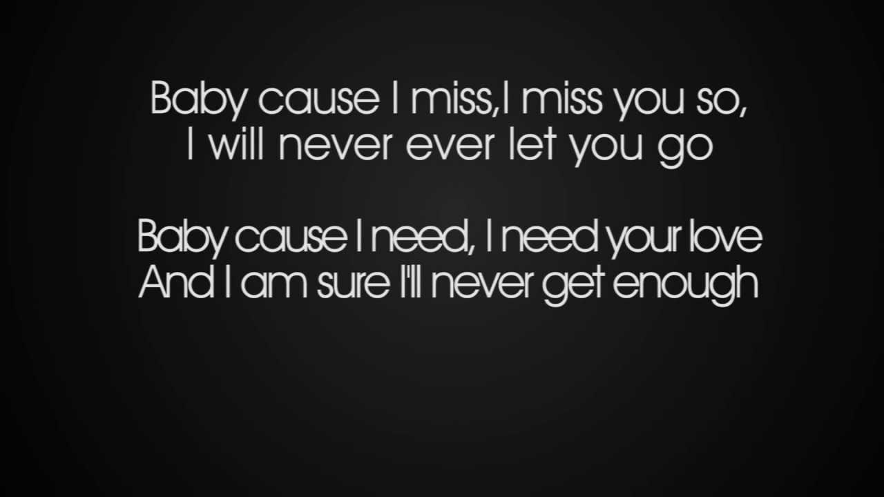 What did i miss lyrics
