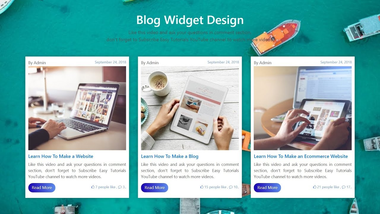How To Make Card View Blog Section In HTML CSS And Bootstrap | Web Design  Tutorial