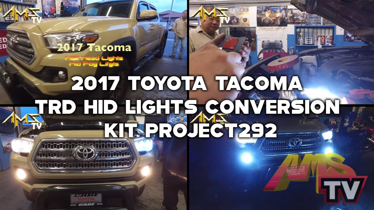 2017 toyota tacoma trd hid lights conversion kit project292 youtube soundright find toyota toyotatacoma publicscrutiny Image collections