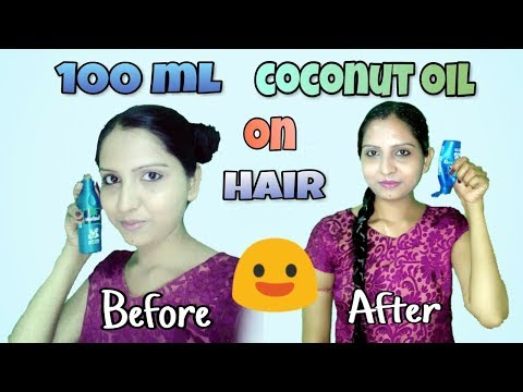 100 ml Coconut Oil on Hair..Twin Bun to Braid..Hair Combing after and before Oiling.. *No Edit*..