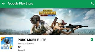 #PUBG# LITE VERSION NOT AVAILABLE ON PLAY STORE Problem SOLVED!!