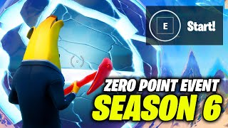 The ZERO POINT is now CRACKED!! (Fortnite Season 6 Event)