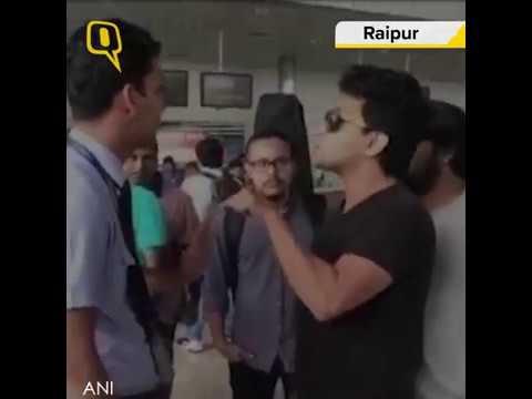 Aditya Narayan Misbehaves with an Indigo Airline Staffer at Raipur Airport