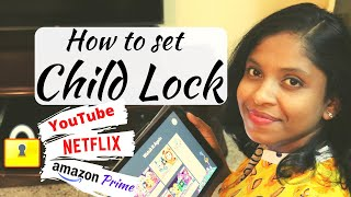 How to set Child Lock on YouTube Netflix & Amazon prime video   Parental Control Step by step guide