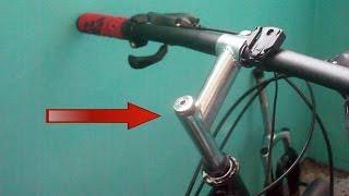 Как снять вынос руля велосипеда с резьбовой вилки