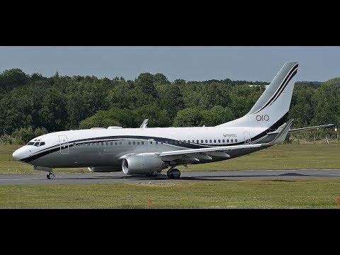 Пожар двигателя !!! Минск / Киев и обратно  - Boeing 737-700 BBJ (N737CC)
