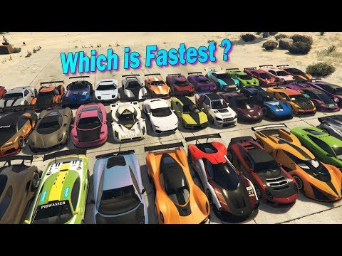 GTA V Online Which is fastest out of all 37 Super-Cars | Acceleration Part-1