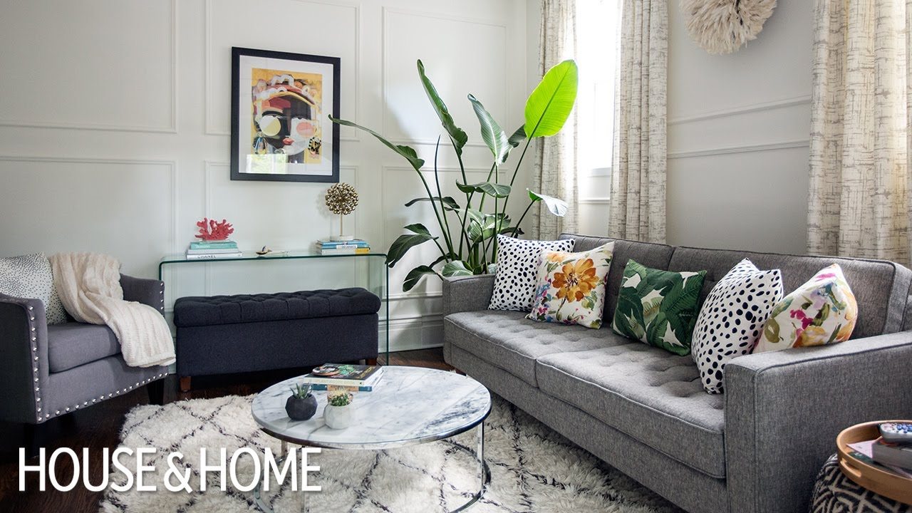 Interior design this small space makeover is full of diy - Living room decor for small spaces ...