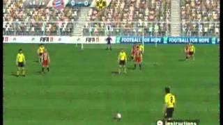 FIFA 11 (Wii) Gameplay: Bayern Munich vs Borussia Dortmund