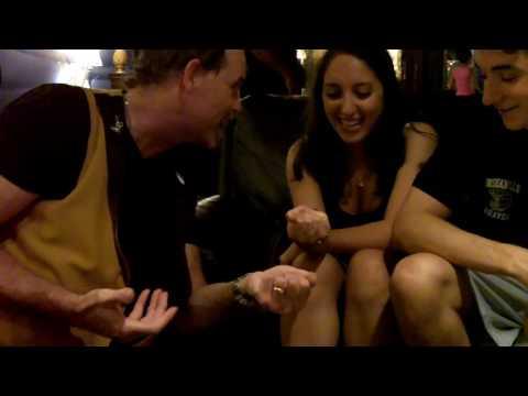 Close up magician NYC reactions, strolling magic Long Island, NY