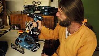 Woodshop Tour 02 Power Tools Review & Walnut Shelf (in Slovak Language)