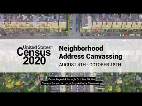 Address Canvassing For The 2020 Census