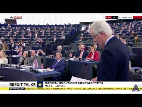 Brexit negotiator Michel Barnier - EU Parliament. Full speech
