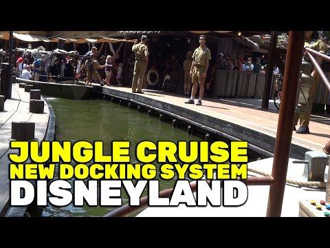 Jungle Cruise new docking system at Disneyland 2016
