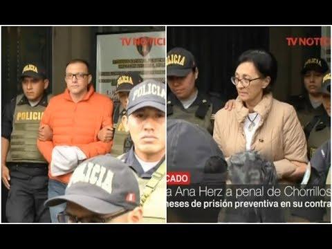 Pier Figari y Ana Herz fueron trasladados a dos penales de Lima