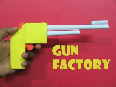 How to Make a Paper Gun that shoots rubber band - Easy Tutorials