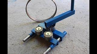 curvatrice da morsa fai da te (homemade roller bender)