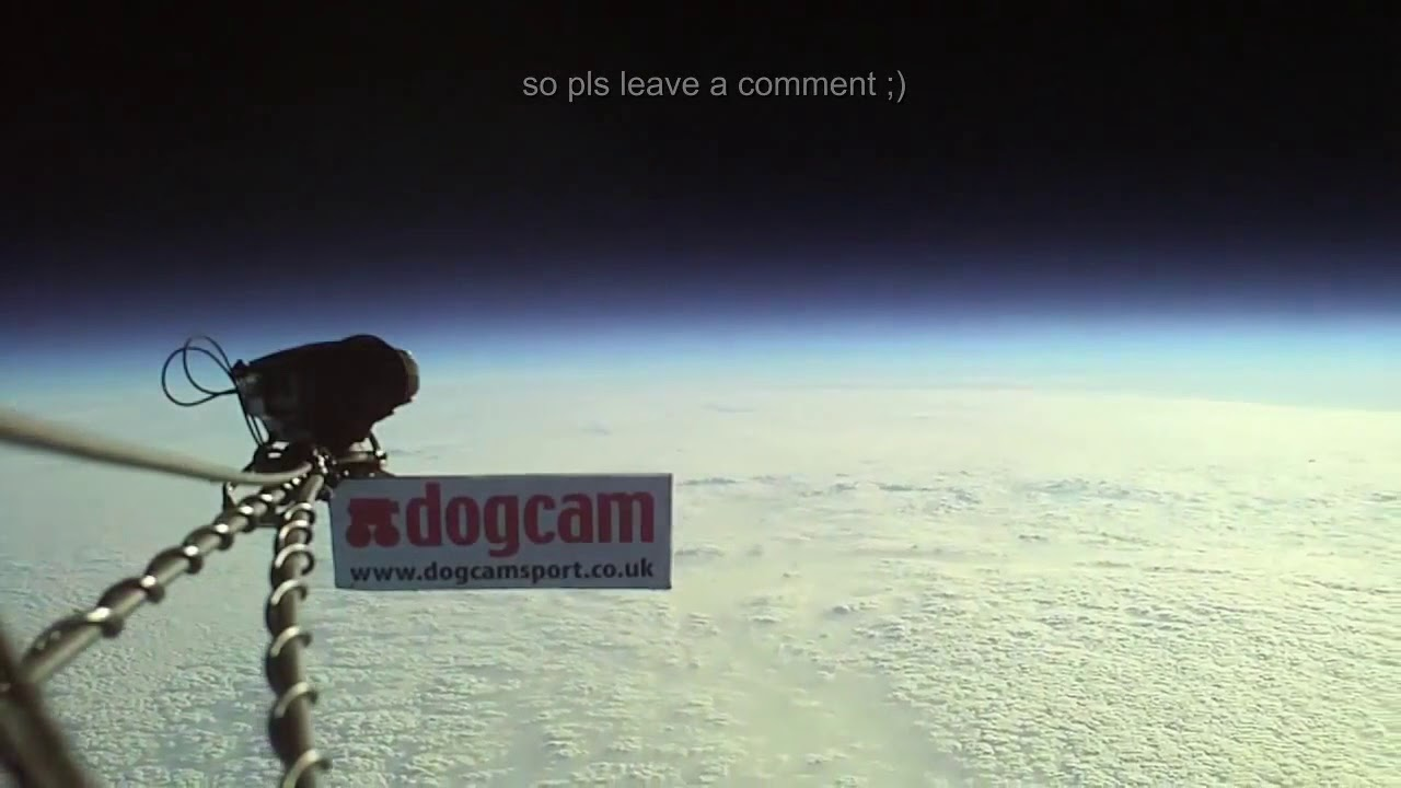 Amazing flight of a balloon to the edge of space