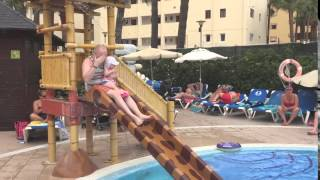 Elsie-Rose on First Holiday Majorca 2015 Daddy Down Water Slide