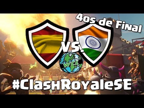 ESPAÑA vs INDIA | Cuartos de Final |  World Clash Royale League | #ClashRoyaleSE | Español