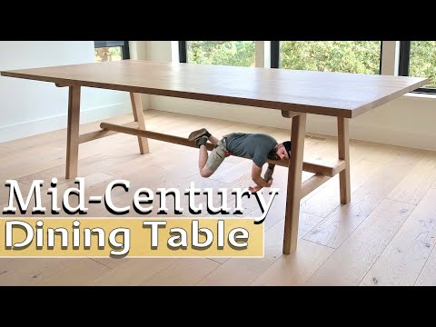 Modern Dining Table Build   Easy Mid-Century Table