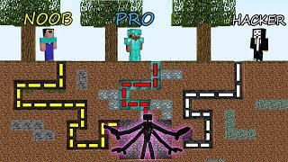 Minecraft Battle NOOB vs PRO vs HACKER SURVIVAL IN ENDERMAN MAZE in Minecraft MAP