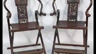 Chinese Horseshoe Shaped Folding Chair _bk0032y.wmv