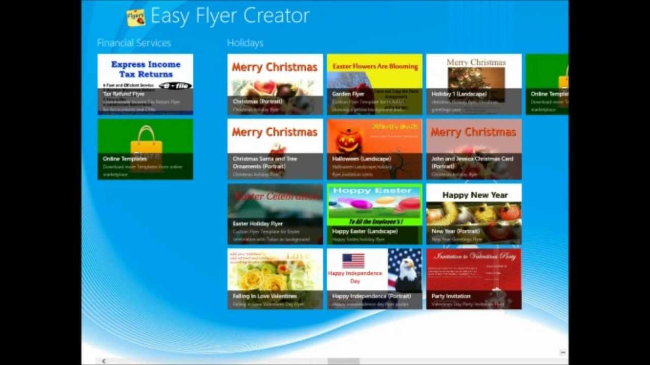 download templates from the marketplace in easy flyers creator youtube