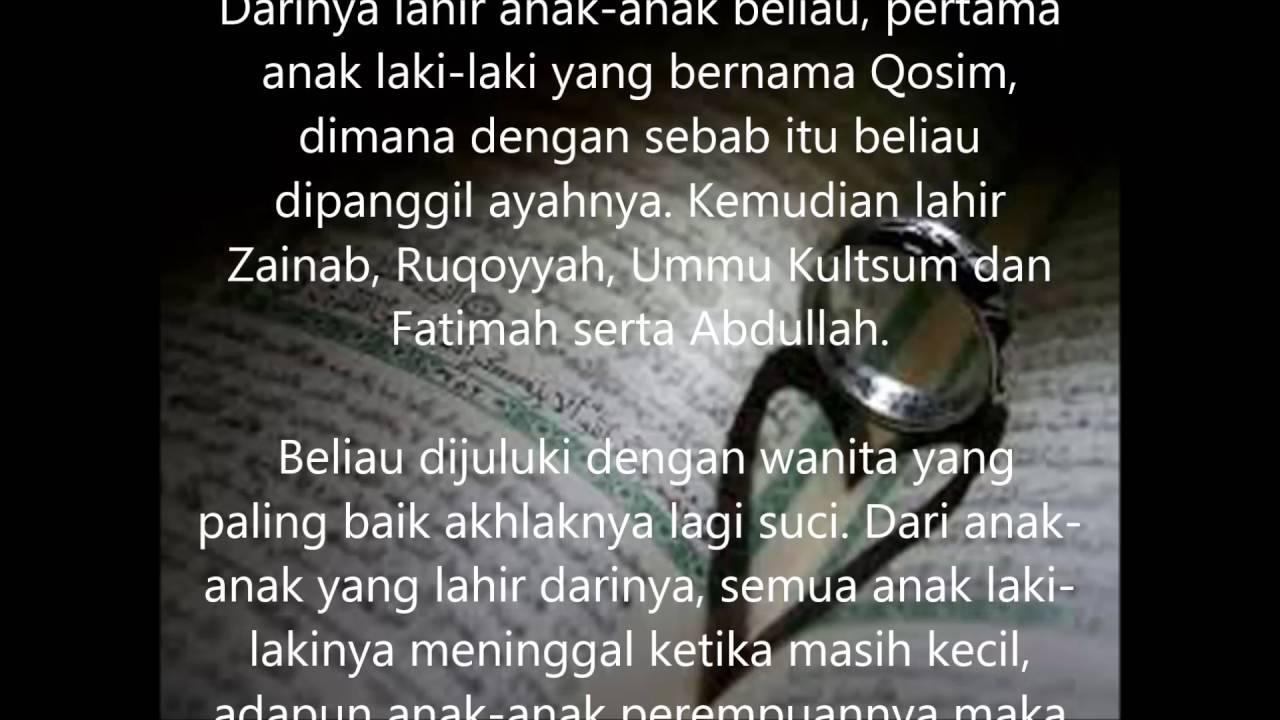 Kata Kata Cinta Nabi Muhammad Kepada Siti Aisyah Cikimm Com