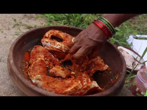 How To Make Cook Fish Curry Andhra Style || Country Street Food || Fish Recipe in Machilipatnam