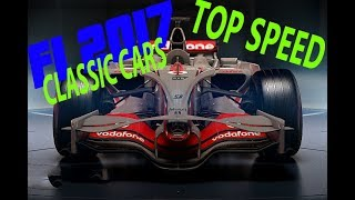 NEW F1 2017 GAME - ALL CLASSIC CARS TOP SPEED! [INCLUDING 1988 MCLAREN]