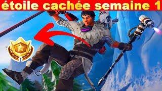 ÉTOILE CACHÉE SEMAINE 1 SAISON 7 SUR FORTNITE BATTLE ROYALE !