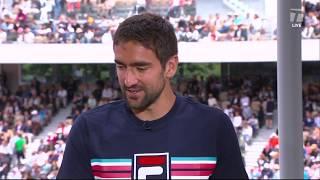 Marin Cilic: 2019 Roland Garros First Round Win Tennis Channel Interview