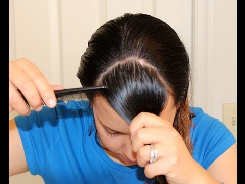 How to Cut Perfect Hair Bangs at Home Hair Tutorial SuperPrincessjo ...