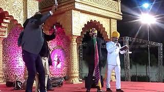 Gun fire in royal rajput wedding