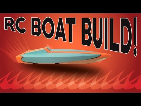 Home made RC speed boat build