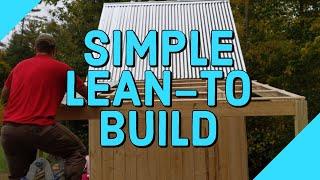 Aufbau eines Lean To