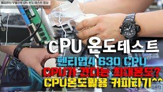 컴퓨터수리-인텔 펜티엄 CPU가 견디는 최대온도 테스트-1080P