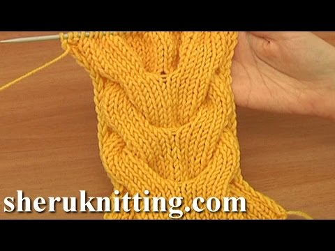 Horseshoe Cable Stitch Pattern Knitting Tutorial 15 A Double Cable ...